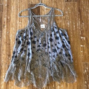 NEW W/Tags, Sexy Free People Lace Top size Lg